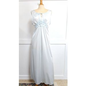 Vintage 1970s Gilead Ice Blue Nightgown size Large